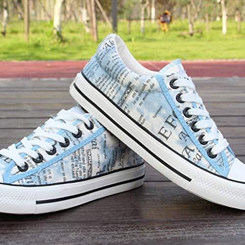 selvaggia 44 Blue Scarpe scarpe di scarpe estiva scarpe uomo denim di tela WangKuanHome tendenza tela Brown da da casual uomo Color Size zqRdxw66n1