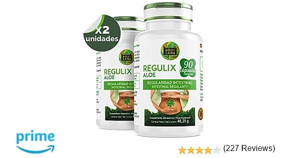 Regulix Aloe -Aquisana   Ayuda a favorecer una buena digestión   Pérdida de Peso  - Libre de alérgenos- 180 Cápsulas
