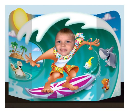 Adult Luau Birthday Party (Beistle 57998 Surfer Dude Photo Prop, 3-Feet 1-Inch by 25-Inch)
