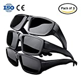 Oumers Solar Eclipse Glasses, CE and ISO Certified Professional Safe Shades Filter for Direct Total Eclipse Viewing, Eye Protection (3 Pack - Plastic Frame)
