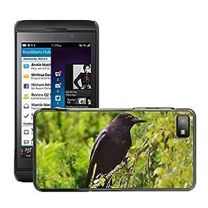 Etui Housse Coque de Protection Cover Rigide pour // M00133316 Cuervo Cuervo Pájaro Pájaro Cuervo // BlackBerry Z10