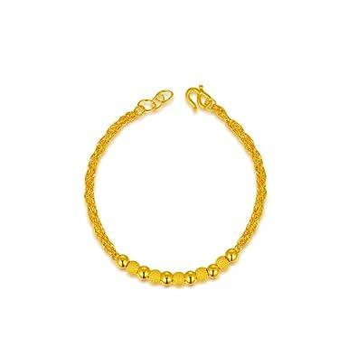 21c7b0636cd GOWE 24k Pure Yellow Gold Bracelet Genuine Bangle Fine Wedding ...