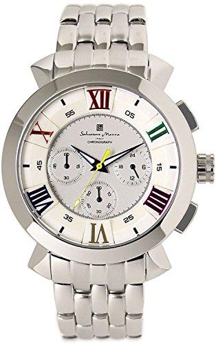 Salvatore Marra Chronograph Watch Men's SM14107-SSWHCL