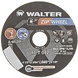 Walter ZIP Wheel High Performance Cutoff Wheel, Type 1, Round Hole, Aluminum Oxide, 4-1/2