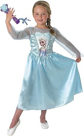 Frozen - Disfraz Elsa Classic con micro, para niños, 3-4 años ...