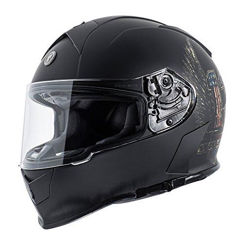 - TORC Unisex-Adult Full Face helmet (Flat Black Wings, Medium)