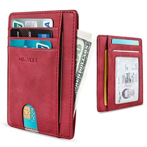 MR. YLLS Slim Thin Minimalist Front Pocket RFID Blocking Leather Wallet for Men & Women Money Cash Credit Card Holder