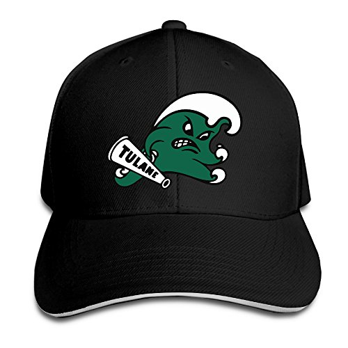 Tulane Green Wave 1 Logo Flex Baseball Cap Black 170e9899a699