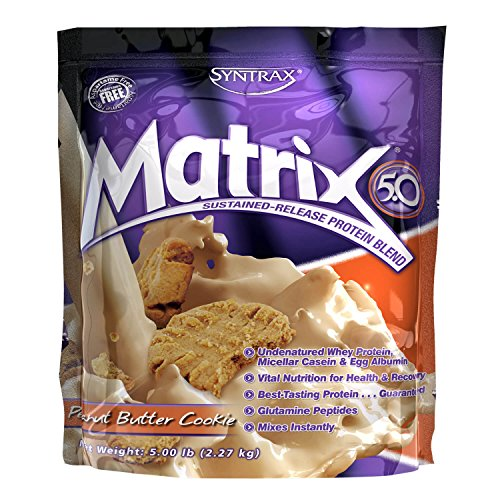 Syntrax Matrix Whey Protein, Peanut Butter Cookie, 5 Pound