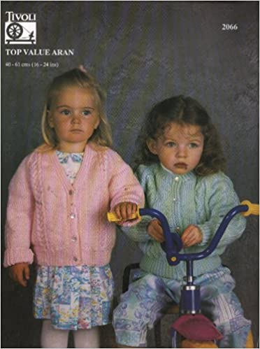 Tivoli Knitting Pattern 2066 Babytoddler Aran Cardigans 16 24in