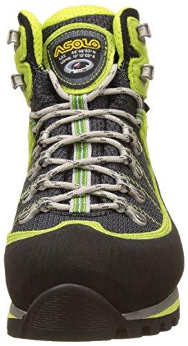 Asolo Shiraz GV mm, Scarpe da Arrampicata Alta Uomo Verde (Nero/Green Lime)