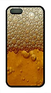 iPhone 5 5S Case Beer Froth Holiday TPU Custom iPhone 5 5S Case Cover Black