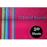 50 - Permanent Self Adhesive Vinyl Sheets -12 x 12 inch, Easy to Weed Sheets that Works With Cricut and All Cutters. Assorted colors in Glossy, Matt, Metallic, Neon, Gold and Silver