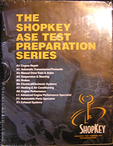 The Shopkey ASE Test Preparation Series A1-A8; L1, P2, X1 (Hood Stop Bolts)
