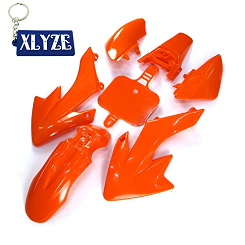 XLYZE Orange-Group Motorctcly Plastic Fender Body Work Fairing Kit For SDG SSR Honda Piranha Chinese CRF50 XR50 50cc 70cc 90cc 110cc 125cc 140cc 150cc 160cc Pit Dirt Bike