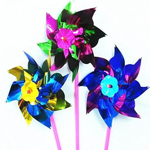 Windmill Diy Garden 100pcs/lot Wind Spinner Mixcolor For Children Gift Home Decore 36.5150.8cm