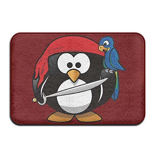 Tollyee Frank Marner Pirate Penguin Bird Home Doormat Floor Mat Doormat 40 X 60 cm Non-Slip