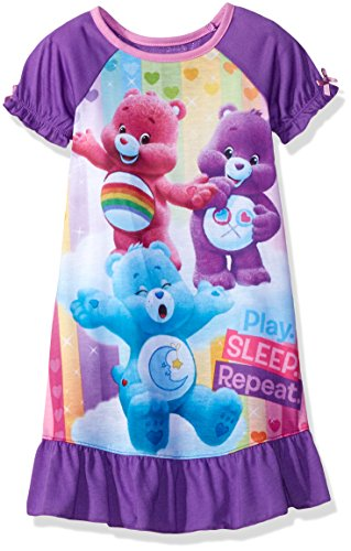 Nightgown And Cap Costume (Care Bears Toddler Girls' Dorm, Purple, 4T)