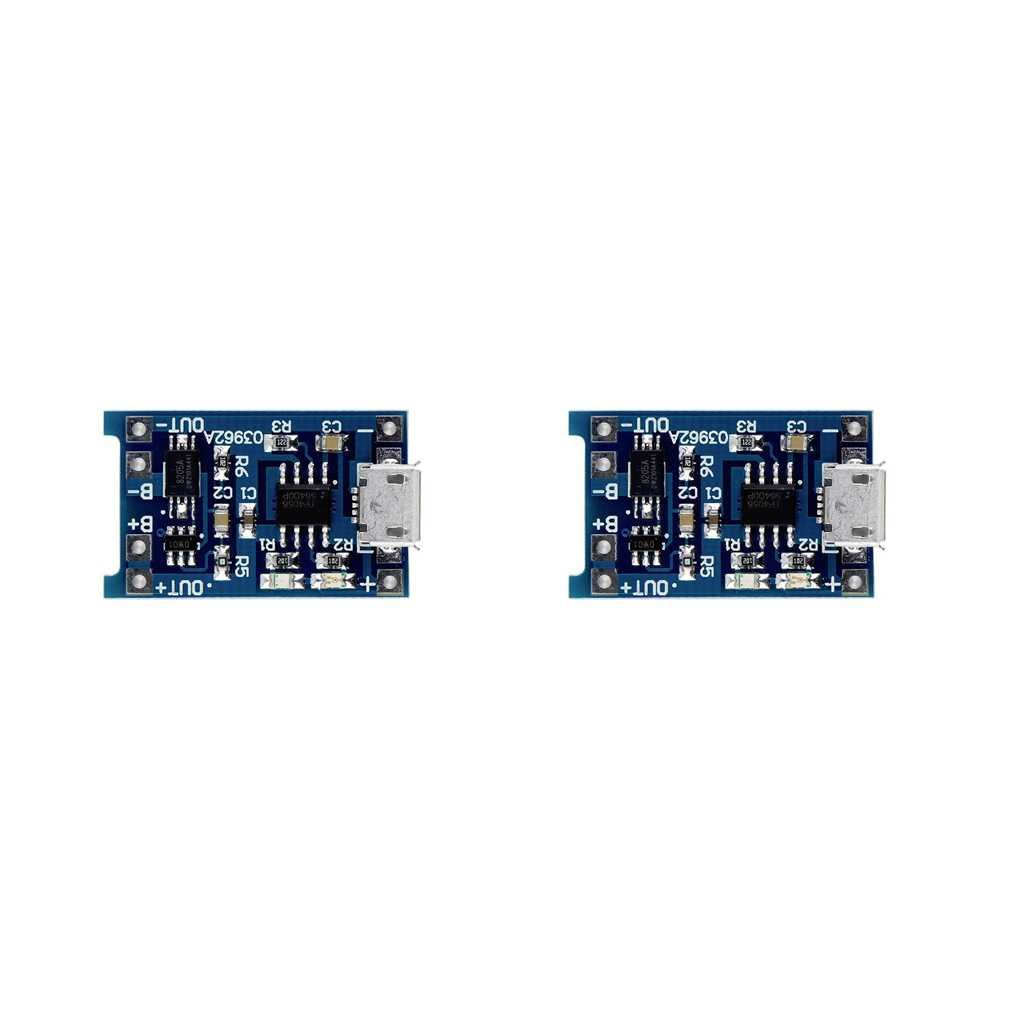 Riverlily 1/2/5PCS 5V Micro Rechargeable USB 1A 18650 Lithium Battery Charger Module Charging Board by Riverlily (Image #2)