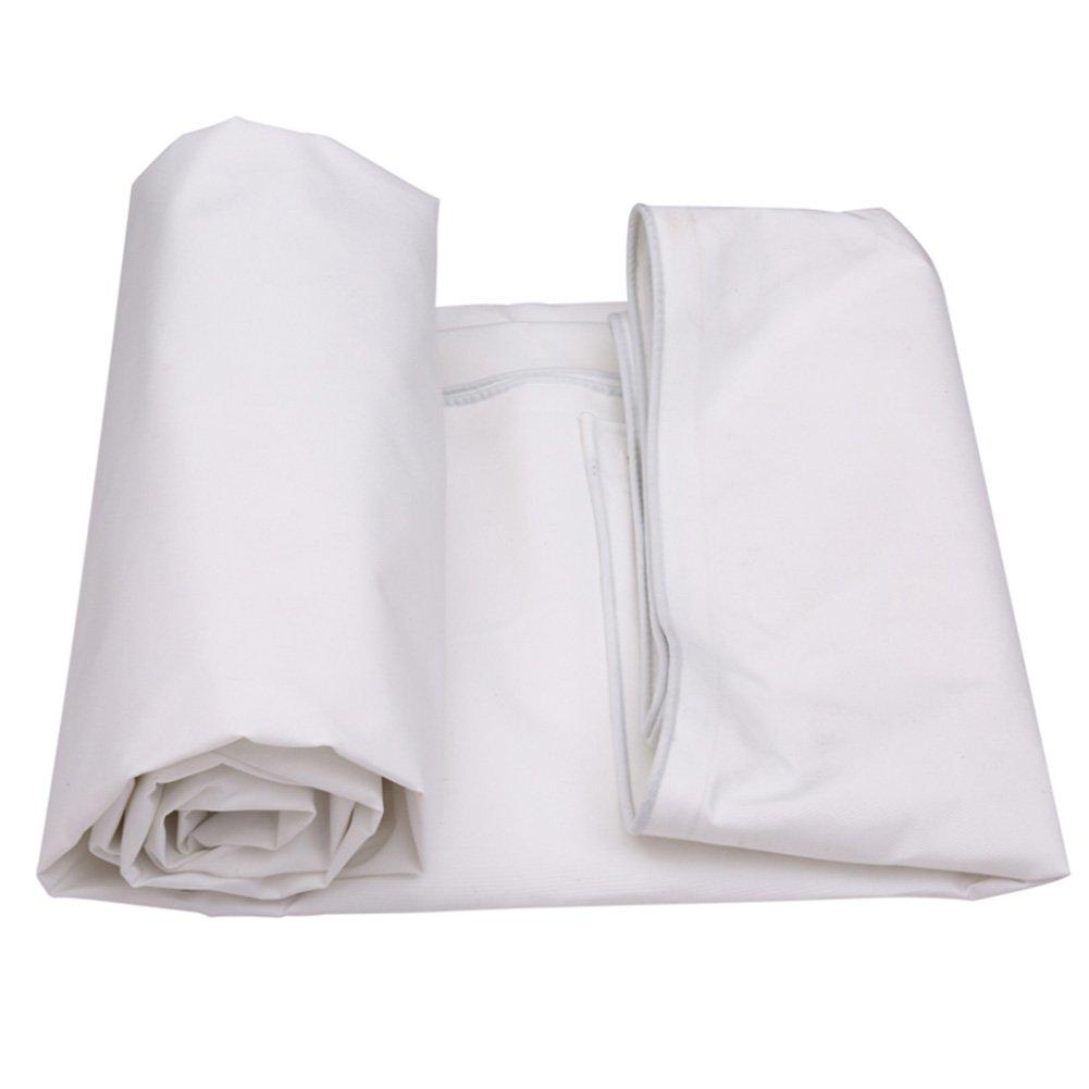 JIANFEI オーニング 防水 日焼け止め 耐摩耗性 通気性のある 雨よけ 耐候性 ポリエチレン 500G/m2、 厚さ0.5MM、 オプション5サイズ (色 : 白, サイズ さいず : 4m × 6m) B07D4D52K7 4m × 6m|白 白 4m × 6m