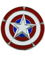 Jewel M Captain America's Shield Belt Buckle