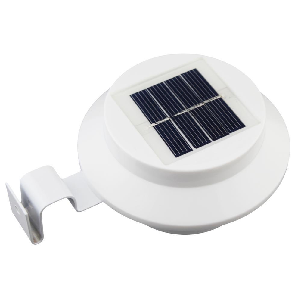 HeroStore 4 PCS LED Solar Gutter Utility Outdoor Light Fence Yard Wall Gutter Pathway Garden Shed Walkways Sun Power Waterproof Lamp