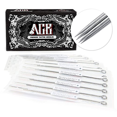 ACE Needles 50 pcs. 9 Round Shader Pre-Made Sterile Tattoo Needles - 9RS