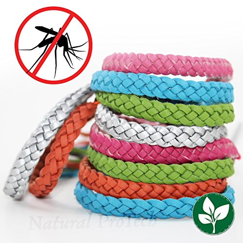 Mosquito Repellent Leather Braided Bracelet