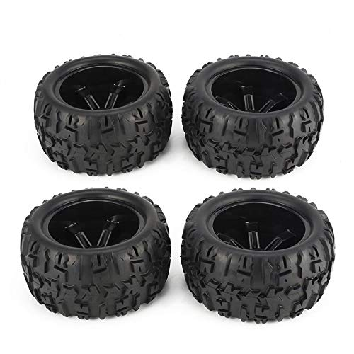 Lovelystar 4Pcs 150mm Wheel Rim and Tires for 1/8 Monster Truck Traxxas HSP HPI E-MAXX Savage Flux Racing RC Car Accessories ()