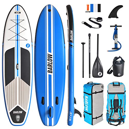 Inflatable Stand Up Paddle Board, Premium Paddle Board Accessories | Backpack, Non-Slip Deck, Bonus Waterproof Bag, Leash Pump Included for Both Youth and Adult Ages