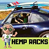 Surfboard Rack For Car - Put Your Surfboards On Top - Great Car Racks for Surfboards Travel - Fits 4+ Surfboards - Made From Hemp + Heavy Duty Steel