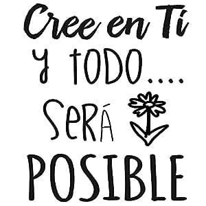 """Frase Vinilo """"Cree en ti y todo será posible"""" Vinilos"""