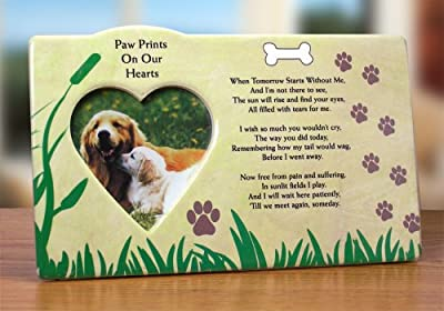 Dog Bereavement Memorial Photo Frame Inspirational Picture Frame by Banberry Designs