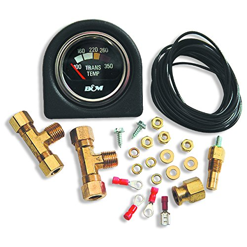 B&M 80212 Transmission Temperature Gauge Kit (Gauge Fluid Temperature)