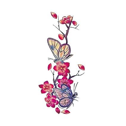 Pegatinas temporales de flores de tatuaje adhesivo instantáneo ...