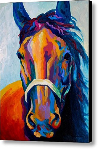 Colorful Horse Art On Canvas