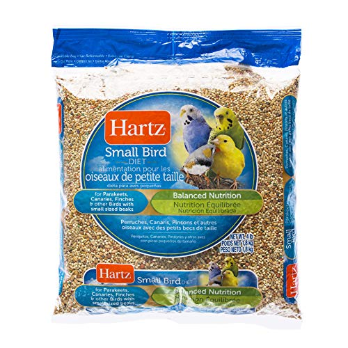 Hartz Parakeet, Canary, Finch Small Bird Food -4Lb (Bulk Seed Parakeet)