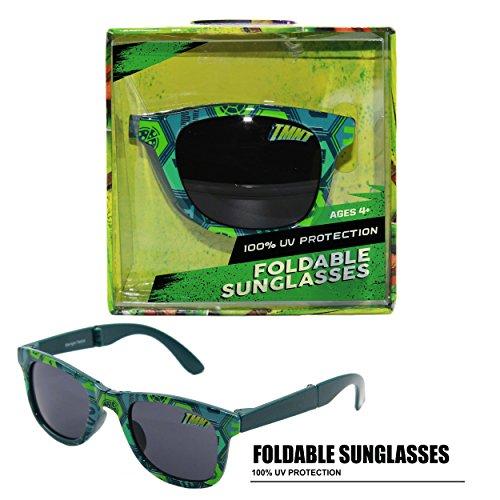 Nickelodeon Teenage Mutant Ninja Turtles Foldable Kids Children Boys Sunglasses with 100% UV Protection UV Shielding Sunglasses - Cartoon Sunglasses Sun