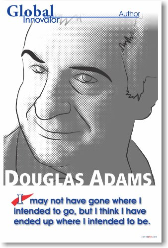 Douglas Adams - The Hitchhiker's Guide to the Galaxy Author New Famous Person Classroom