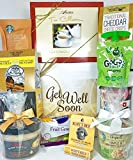 Gourmet Get Well Gift Box Basket - For Cold Flu Illness Surgery Injury- Over 3.5 Pounds of Care, Concern, and Love - Prime Care Package for Men and Women - Send a Smile Today!