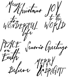 Stampers Anonymous Tim Holtz Cling Rubber Stamp Set, Handwritten Holidays, 7 by 8.5-Inch