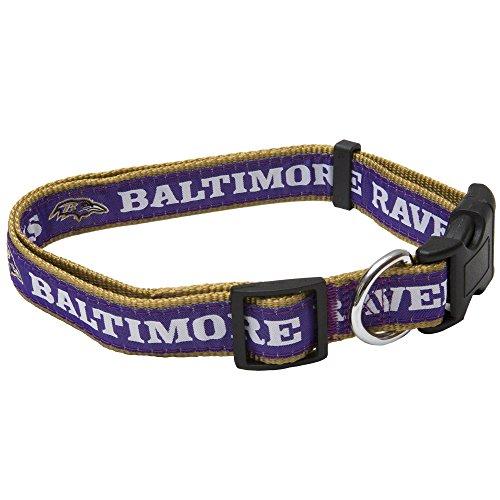 Pets First NFL Baltimore Ravens Pet Collar, Large