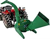 Wood Chipper Tractor Attachment PTO Cutter Leaf Mulcher Shredder, Tractors 18 to 50HP, 4 x 10 Inch Chipper Capacity, 1 Year Parts Warranty, Model BX42S