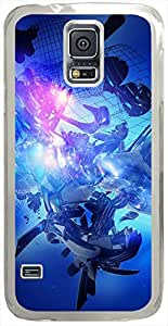 Graphic-Blue Cases for Samsung Galaxy S5 I9600 with Transparent Skin by supermalls