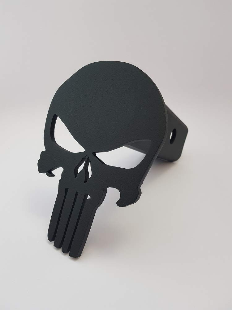 Punisher Trailer Hitch Cover - Steel & Powder Coated by DOFER