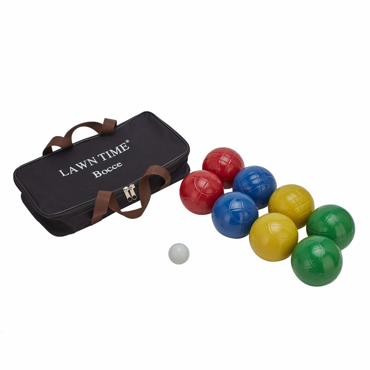 LAWN TIME 90mm Bocce Ball Set | Includes 8 Recreational Plastic Balls, 1 Pallino (Jack Ball) and 1 Nylon Zip-Up Carrying Case | Beach, Backyard or Outdoor Party Game - Family Fun for All Ages by LAWN TIME (Image #4)