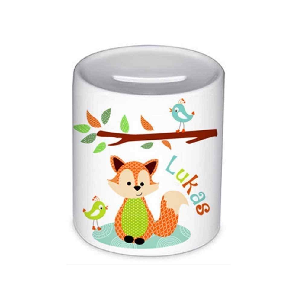 Spardose Fuchs Mit Namen Fur Kinder Geschenk Kinderspardose