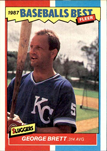 GEORGE BRETT HOF KANSAS CITY ROYALS 1987 Fleer Sluggers & Pitchers Baseball's Best #6