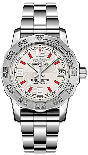 Breitling Colt Lady Silver Dial with Red Hour Markers Women's Watch A7738711/G761-158A