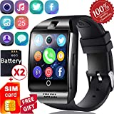 1.55'' Smart Watch Phone with Free SIM Card Sleep Monitor Men Women Touch Screen Smartwatch Sycn SMS Call Music Sport Outdoor Wristband Camera Pedometer Fitness Watch for Android Birthday Gifts